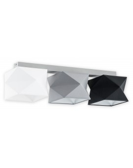 Plafon Espero O2773 P3 biały/szary/czarny abażur Lemir
