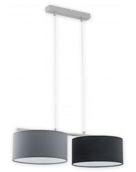 Lampa Zwis Lara O2762 W2 szary/czarny abażur Lemir