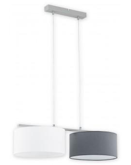 Lampa Zwis Lara O2762 W2 biały/szary abażur Lemir