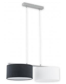 Lampa Zwis Lara O2762 W2 czarny/biały abażur Lemir