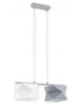 Lampa Zwis Espero O2772 W2 biały/szary abażur Lemir