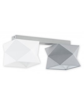 Plafon Espero O2772 P2 biały/szary abażur Lemir
