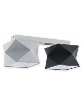 Plafon Espero O2772 P2 szary/czarny abażur Lemir