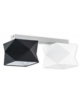 Plafon Espero O2772 P2 czarny/biały abażur Lemir