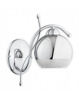 Wandlampe Wandleuchte Modern Metall Chrom Glas Design Trama O2530 K1 CH