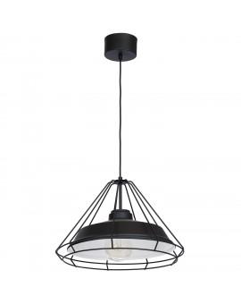 Lampa wisząca Zwis industrialny Works czarny 1 493 Luminex