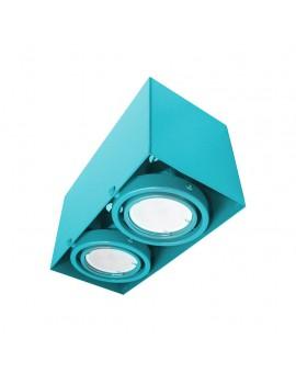 LAMPA SUFITOWA BLOCCO TURKUS 2x7W GU10 LED ML845 Milagro