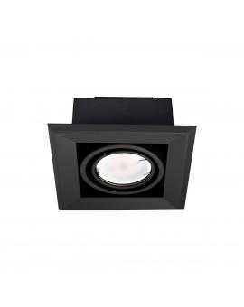 LAMPA PODTYNKOWA BLOCCO CZARNA 1x7W GU10 LED ML472 Milagro