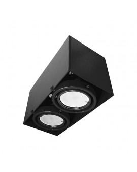 LAMPA SUFITOWA BLOCCO CZARNA 2x7W GU10 LED ML479 Milagro
