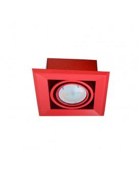 LAMPA PODTYNKOWA BLOCCO CZERWONY 1x7W GU10 LED ML838 Milagro