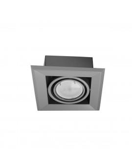 LAMPA PODTYNKOWA BLOCCO SZARY 1x7W GU10 LED ML839 Milagro