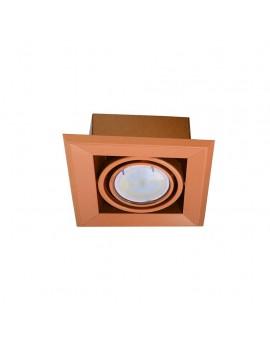 LAMPA PODTYNKOWA BLOCCO POMARAŃCZ 1x7W GU10 LED ML840 Milagro