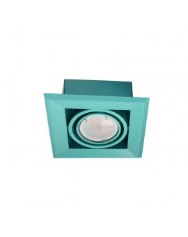 LAMPA PODTYNKOWA BLOCCO TURKUS 1x7W GU10 LED ML841 Milagro