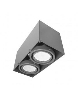LAMPA SUFITOWA BLOCCO SZARY 2x7W GU10 LED ML843 Milagro