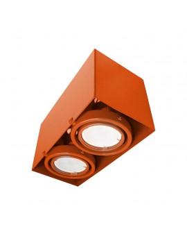 LAMPA SUFITOWA BLOCCO POMARAŃCZOWA 2x7W GU10 LED ML844 Milagro
