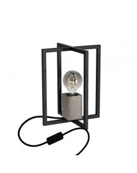 LAMPA STOŁOWA METAL/DREWNO KLATKA RALPH MLP3713 Milagro