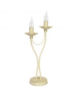 Lampka biurkowa 2-pl RÓŻA krem 397B9/M Aldex
