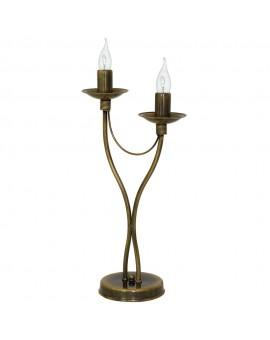 Lampka biurkowa 2-pl RÓŻA STARE ZŁOTO 397B26/M Aldex