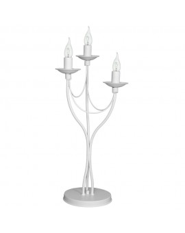 Lampka biurkowa 3-pl RÓŻA biały 397B/D Aldex