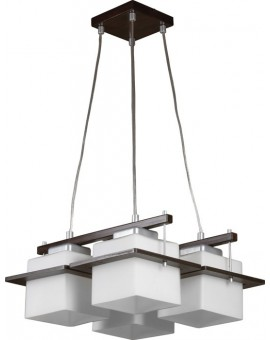 Lampa sufitowa wisząca  DELTA WENGE 4Pł Sigma 10701