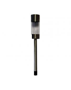 LAMPA OGRODOWA SOLARNA INOX+PLASTIC EKO4802 MILAGRO