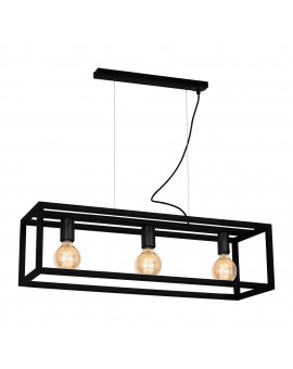 Lampa wisząca CAGE BLACK 3xE27 MLP5558 Milagro