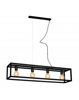Lampa wisząca CAGE BLACK 4xE27 MLP5559 Milagro