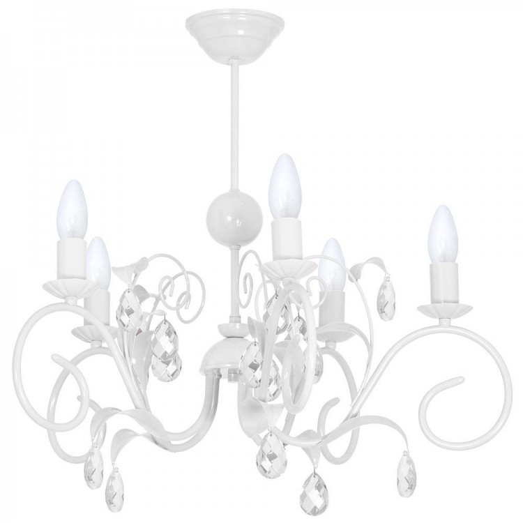 KIDS ROOM CHILDREN Chandelier maria teresa style Livia white 7970