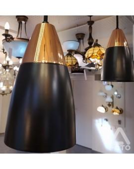 Lampa wisząca podwieszana Kala O2662 W2 CZARNY/MIEDŹ Lemir