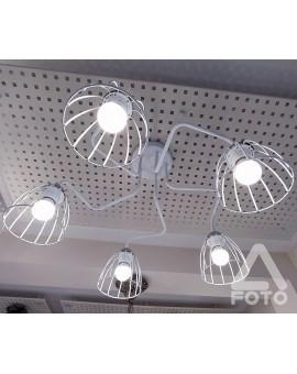 Plafon druciany Senso O2705 W5 biały/chrom Lemir