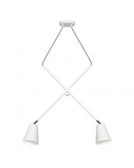 LAMPA ŻYRANDOL 2-PŁ ARTE WHITE 1008H ALDEX
