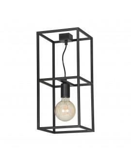 LAMPA SUFITOWA KLATKA OMIKRON 1 CZARNY 146/1 EG