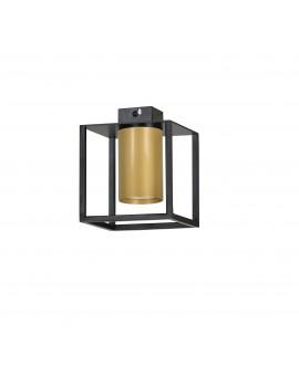 LAMPA SUFITOWA KLATKA TIPER 1 CZARNY/ZŁOTY 977/1 EG