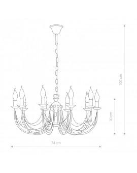 Lampa Żyrandol klasyczny ARES 206 Nowodvorski