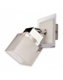 Wandlampe Wandleuchte Oxen O2000 K1 BIA Metall Glas weiß chrom