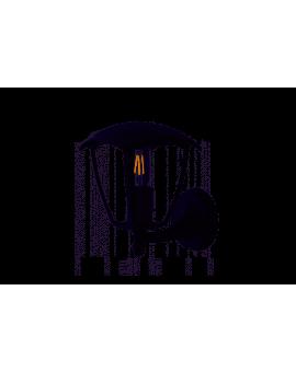 Kinkiet ogrodowy FOX BLACK EKO3537 Milagro