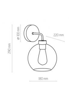 KINKIET CUBUS GRAPHITE 4019 TK LIGHTING