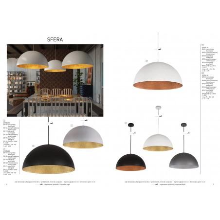 Hanging lamp Ceiling lamp mineral composite Hemisphere 90 30126 Sigma