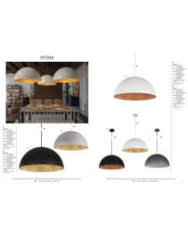 Hanging lamp Ceiling lamp mineral composite Hemisphere White/Copper 50 30140 Sigma
