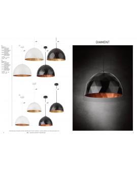 Lampa Zwis Diament L biały miedziany 31370 Sigma