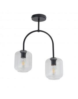 SHINE 32243 SIGMA LAMPA PLAFON 2 CZARNY/TRANSPARENTNY