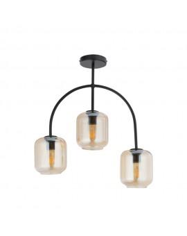 SHINE 32244 SIGMA LAMPA PLAFON 3 CZARNY/BURSZTYNOWY