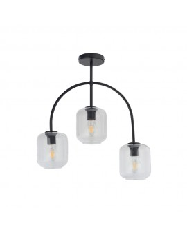 SHINE 32245 SIGMA LAMPA PLAFON 3 CZARNY/TRANSPARENTNY