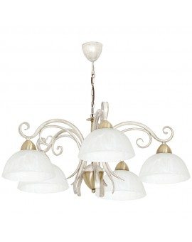 Lampa sufitowa Żyrandol Aurora white 5Pł 5974 Luminex
