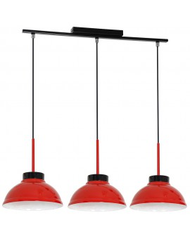 Żyrandol Factor red 3Pł 6153 Luminex
